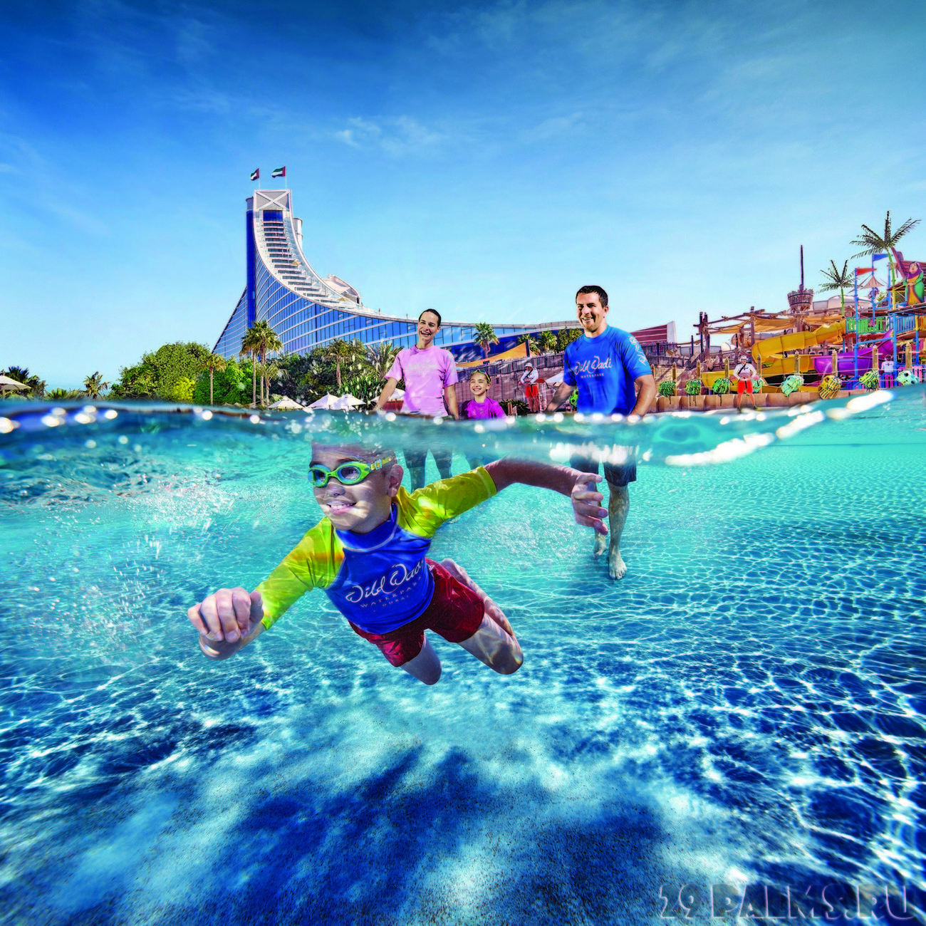 Отримаєте безкоштовний доступ протягом усього періоду перебування у готелі до аквапарку Wild Wadi Waterpark ™ - одного з найбільш відомих тематичних аквапарків світу.