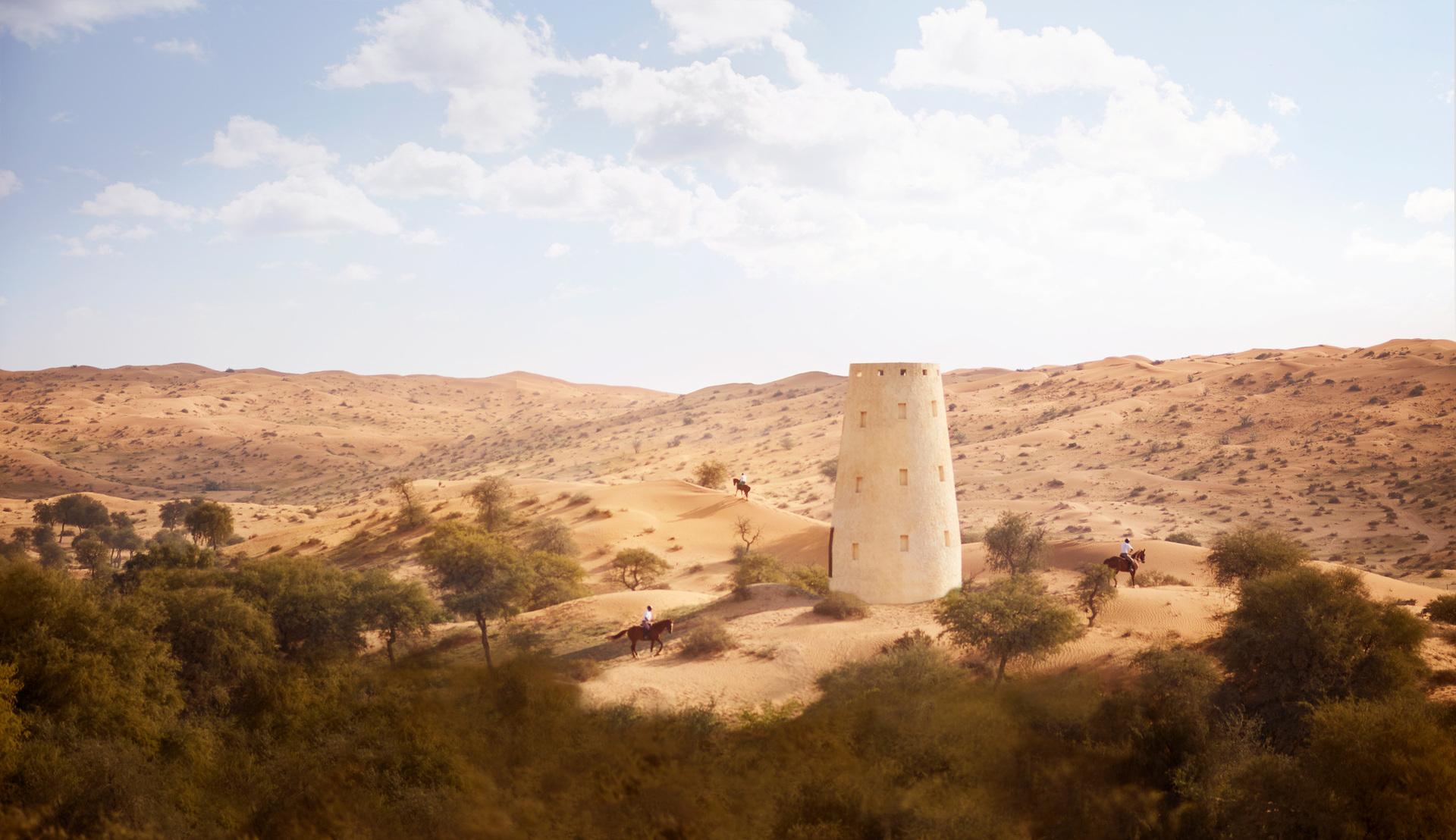 Готель розташований на території заповідника, 500 гектарів – справжній оазис в пустелі. Ви маєте можливість познайомитися з дикою природою пустелі, побачити ориксів, газелей, а також безліч птахів, зануритися в арабську казку.