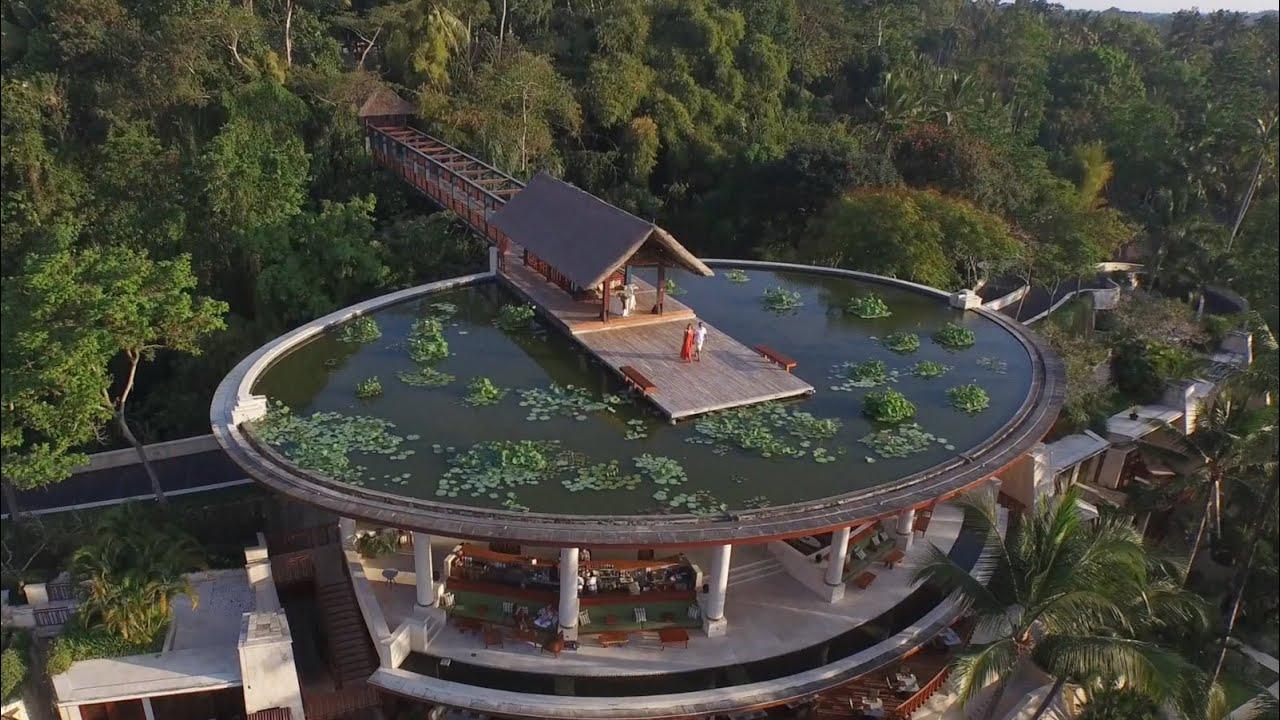 Будівля готелю у формі чаші для рису органічно вписується в природний ландшафт долини річки Аюнг і запрошує вас поринути в саме серце культурного життя острова Балі.