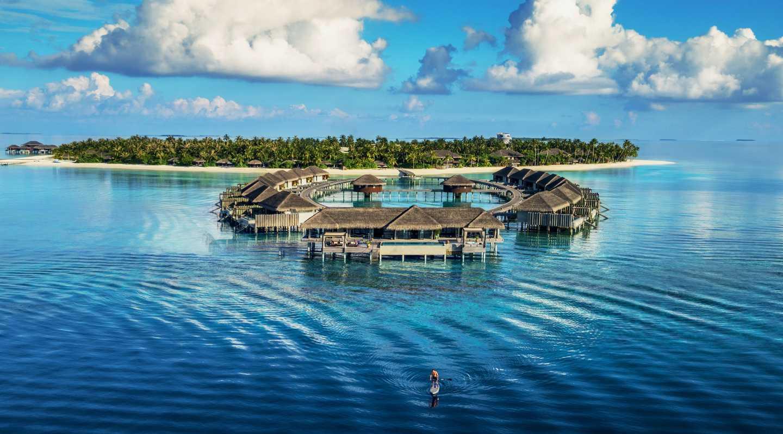 Назвою готель зобов'язаний морським черепахам, які населяють острів незліченну кількість років. З висоти пташиного польоту ексклюзивні водні вілли нагадують голову черепахи, а сам острів формує її тіло. Кольори, візерунки і символіка черепашачого панцира переважають в унікальному дизайні курорту.
